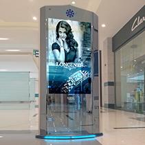 digital signage totem zilverslate 55 double-sided hybrid