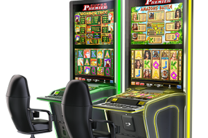Curved touch gaming cabinets