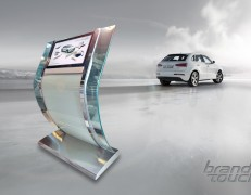 Clarity touch configurator stand for Audi
