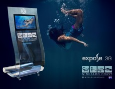 Ningaloo multi-touch full-HD kiosk Expose