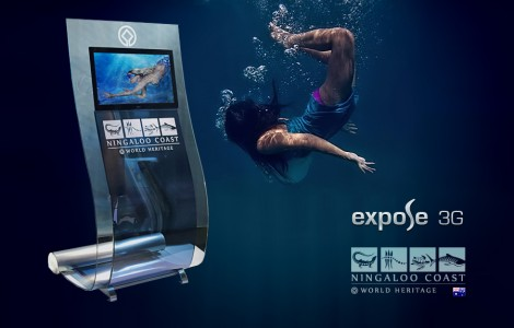 Ningaloo multi-touch full-HD kiosk Expose