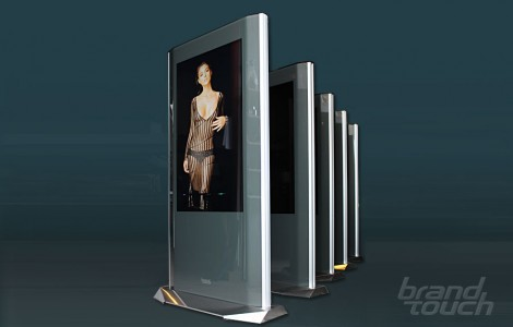 Digital advertising totems OctaEdge for Paradise center