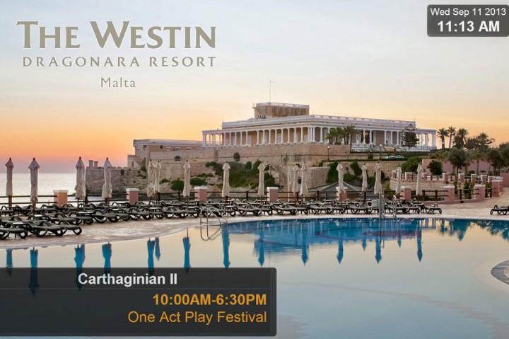 Hybrid signage network for Westin Resorts