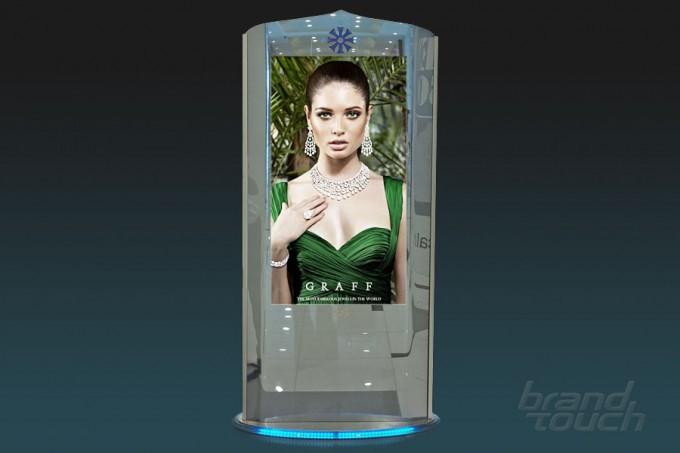 Ultra-luxury totem ZilverSlate for UAE malls