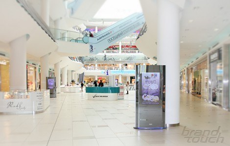 ZilverSlate digital signage totems Bulgaria Mall
