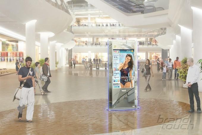 ZilverSlate digital signage totems Bulgaria Mall