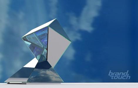 transparent led display kiosk Emerald