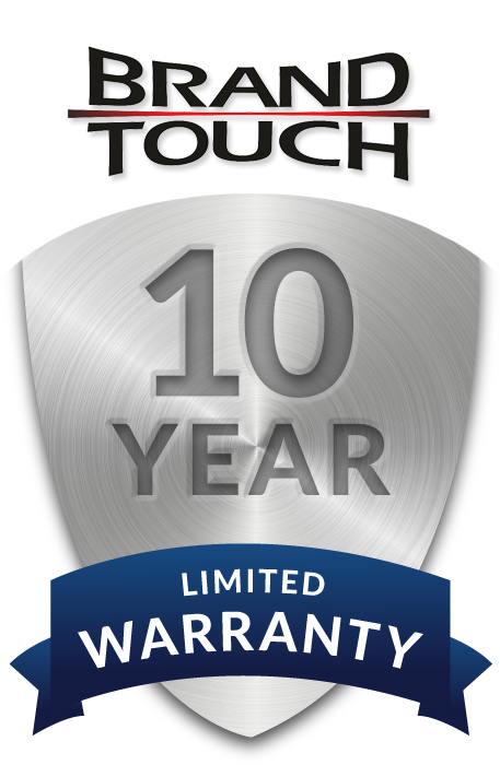 Brand Touch 10 years warranty